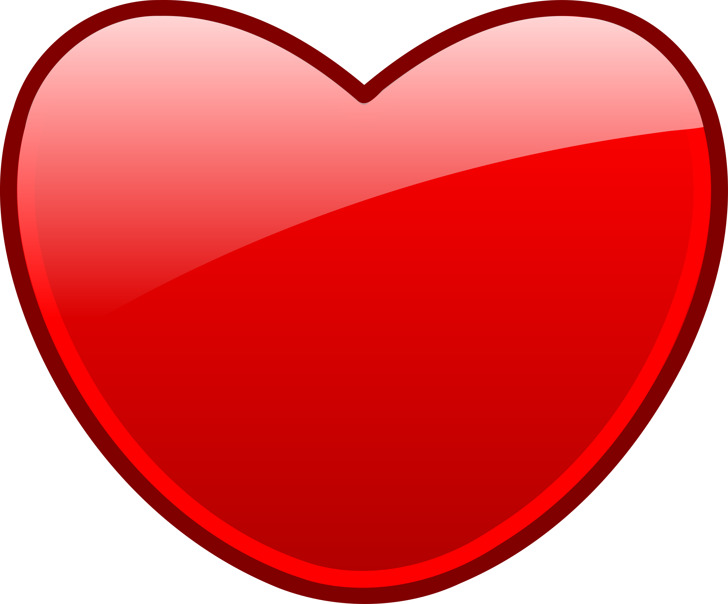 Free open heart icon. Heartbeat clipart red