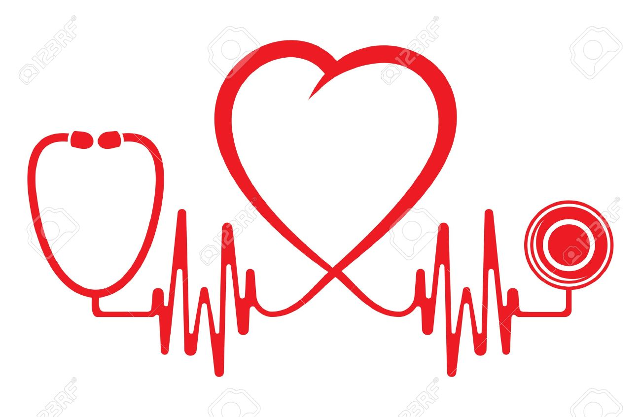 Station . Heartbeat clipart stethoscope