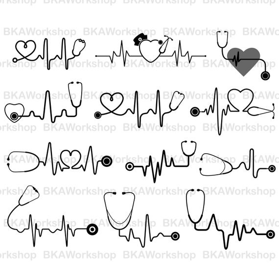 Heartbeat clipart stethoscope. With station