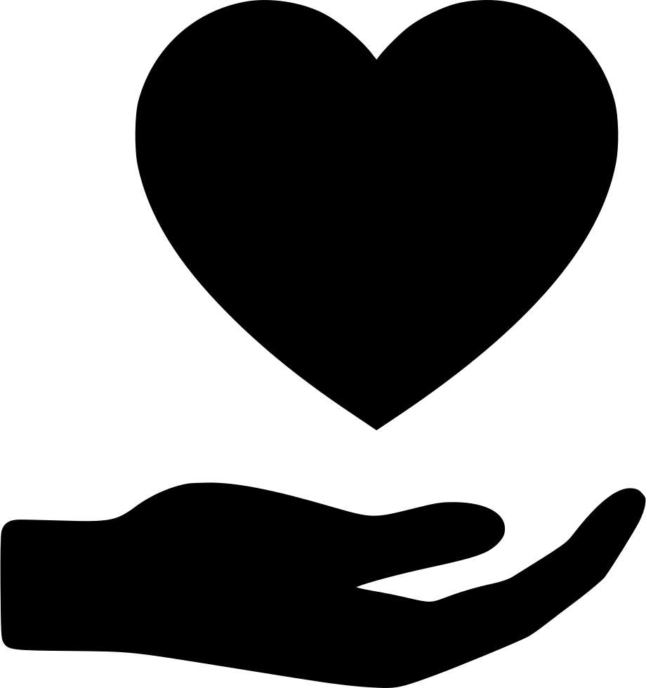 Hand heart png icon. Heartbeat clipart svg