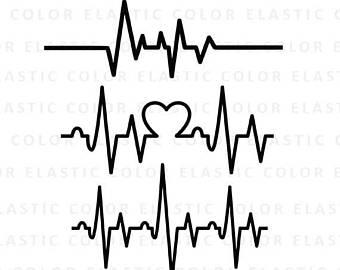 Ekg etsy . Heartbeat clipart telemetry