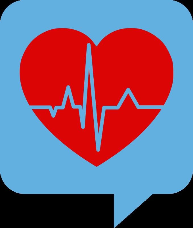 Logo for health se. Heartbeat clipart transparent