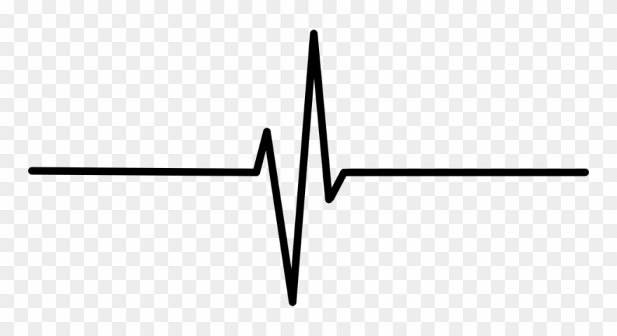 Line black heart rate. Heartbeat clipart transparent