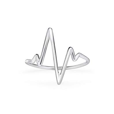 sterling silver ekg. Heartbeat clipart vital sign