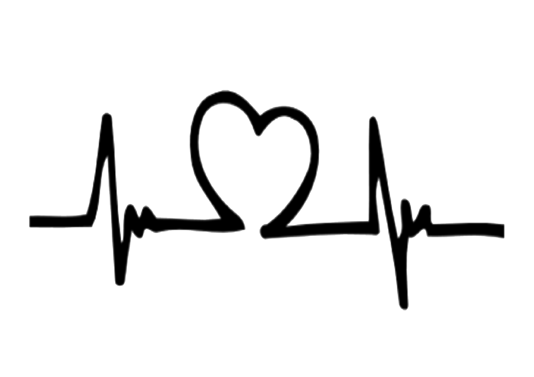 Heartbeat Png Transparent Black: Heartbeat Clipart White Background, Heartbeat White