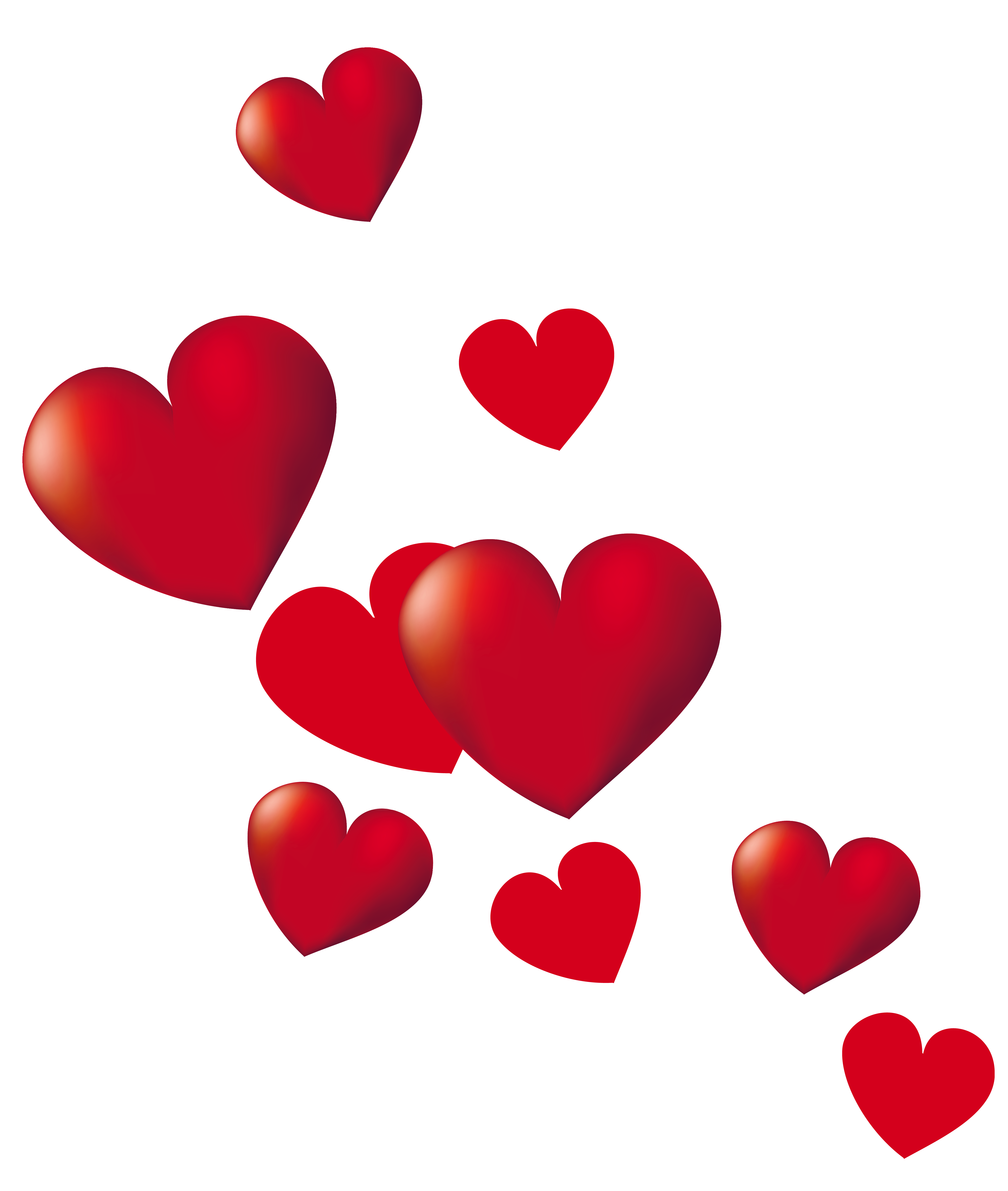 Hearts clip art png.  image free download