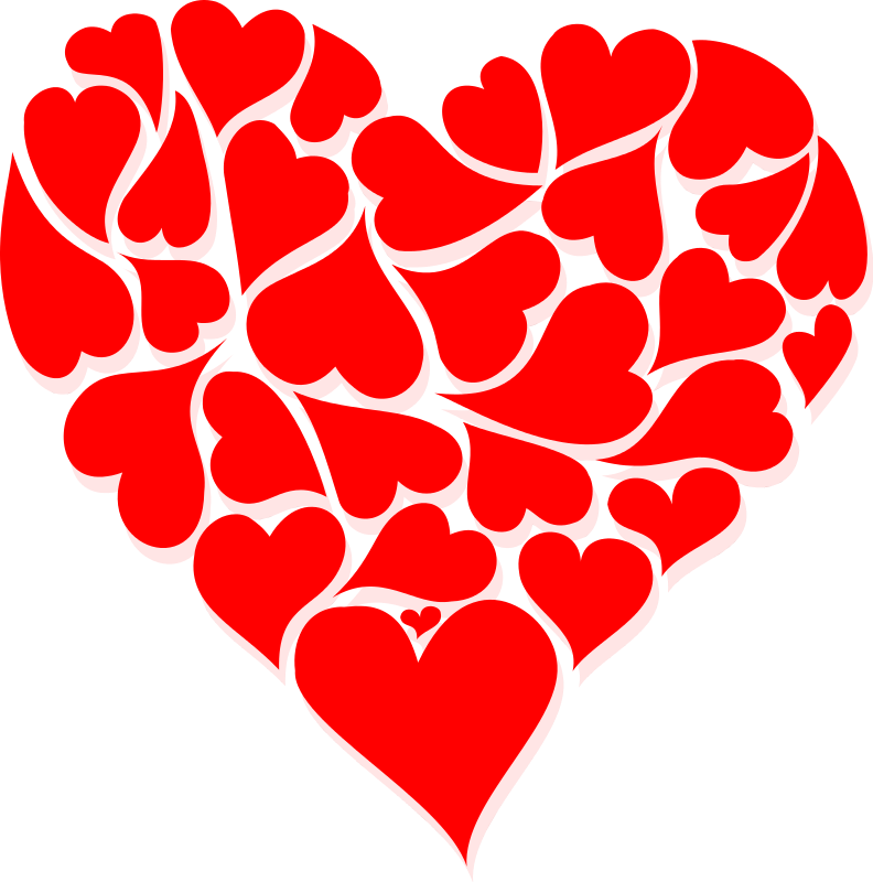 Valentine hearts clip art. Tree clipart valentines day