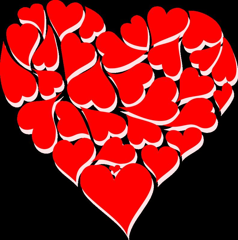 Number 2 clipart valentine. Hearts clip art week