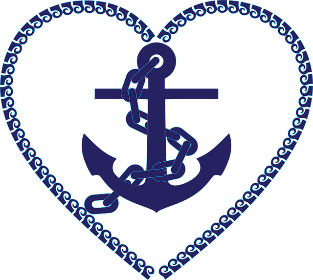 Free photo vintage tattoo. Hearts clipart anchor
