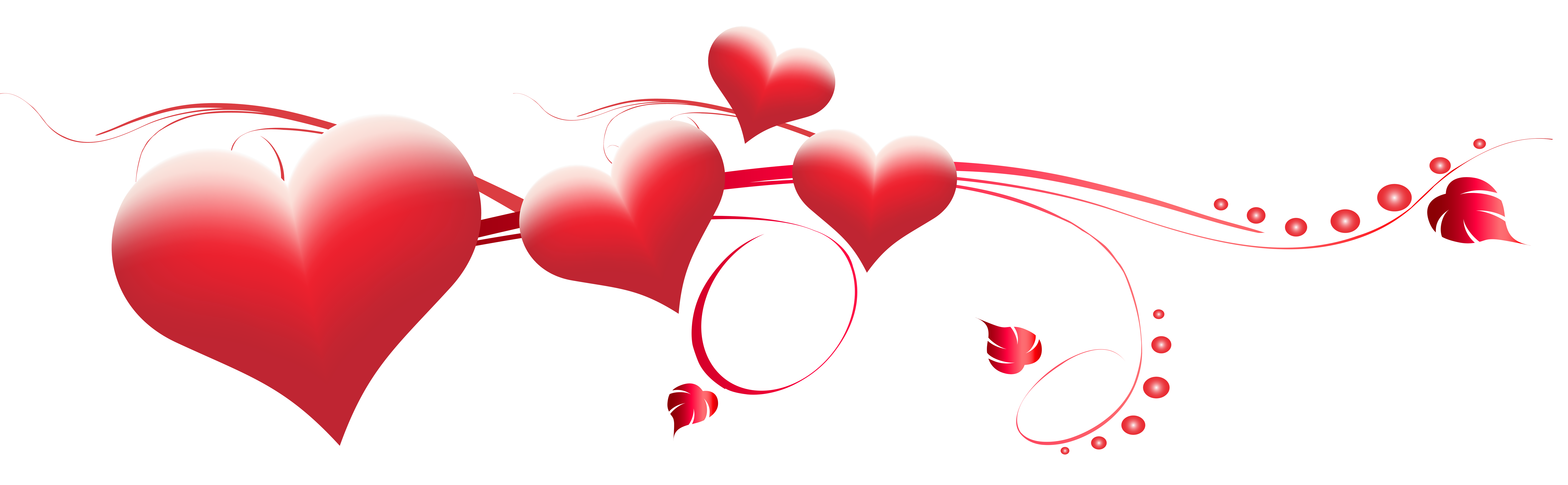 collection of valentines. Hearts clipart banner