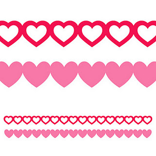 Free heart border for. Hearts clipart banner