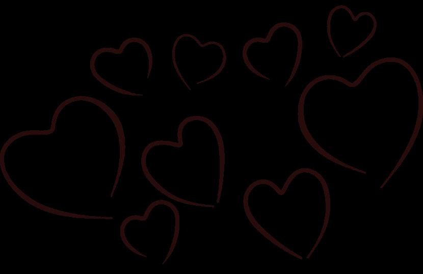 White collection human heart. Hearts clipart baseball