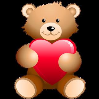 Hearts clipart bear. Bears with love cartoon