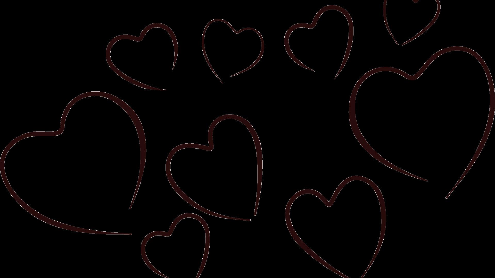 Heart x carwad net. Hearts clipart black and white