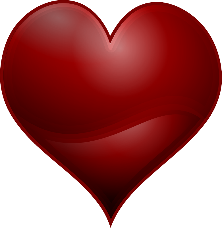Hearts clipart book. Free red love heart