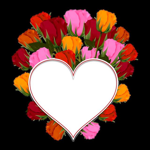 Free photo wreath circle. Hearts clipart bouquet
