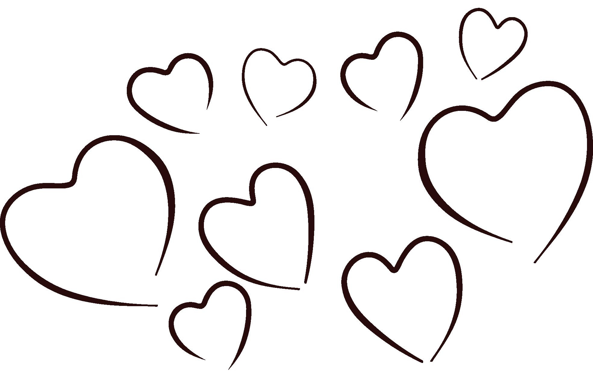 Heart black and white. Hearts clipart bubble