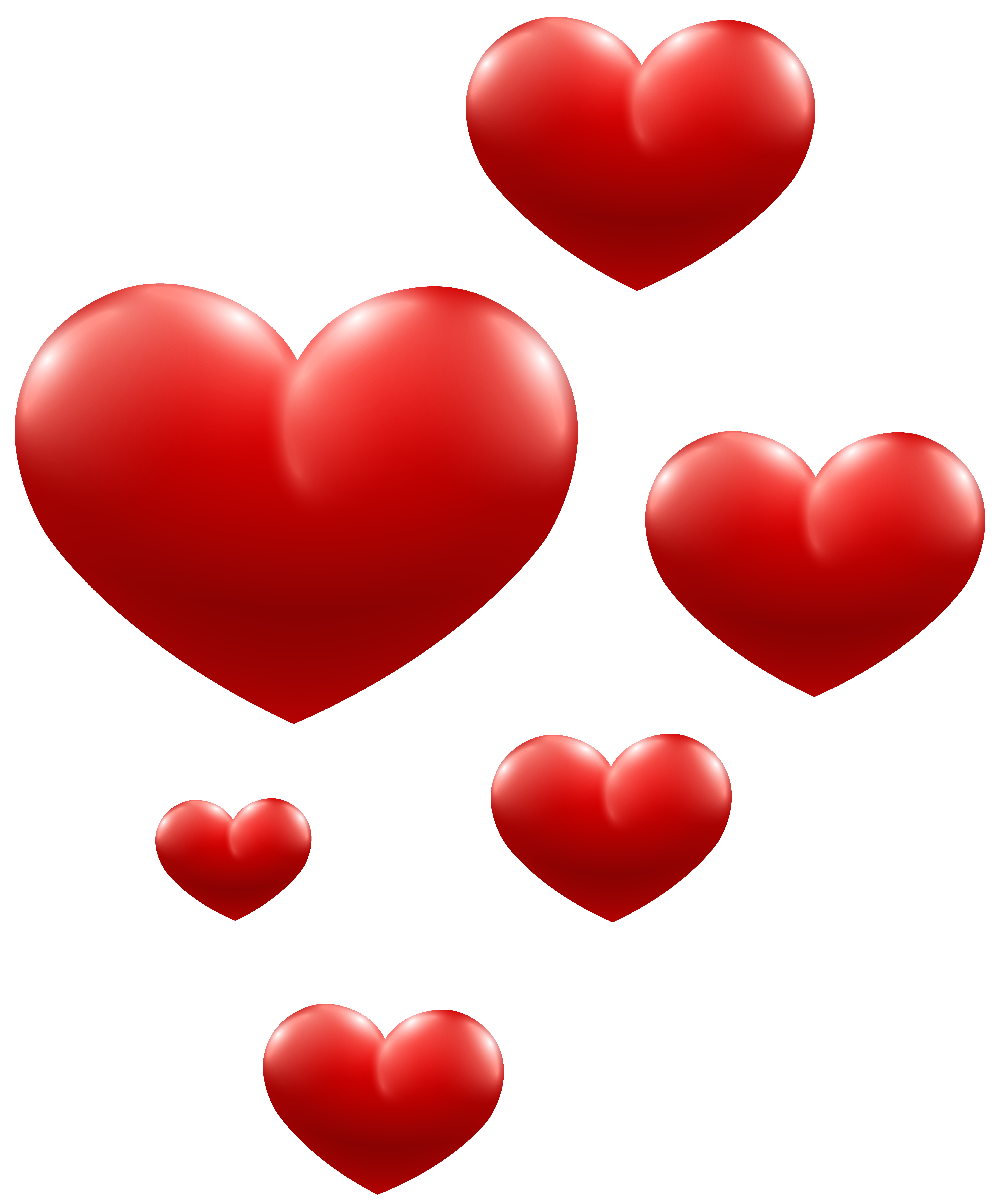 Red transparent png image. Hearts clipart bubble