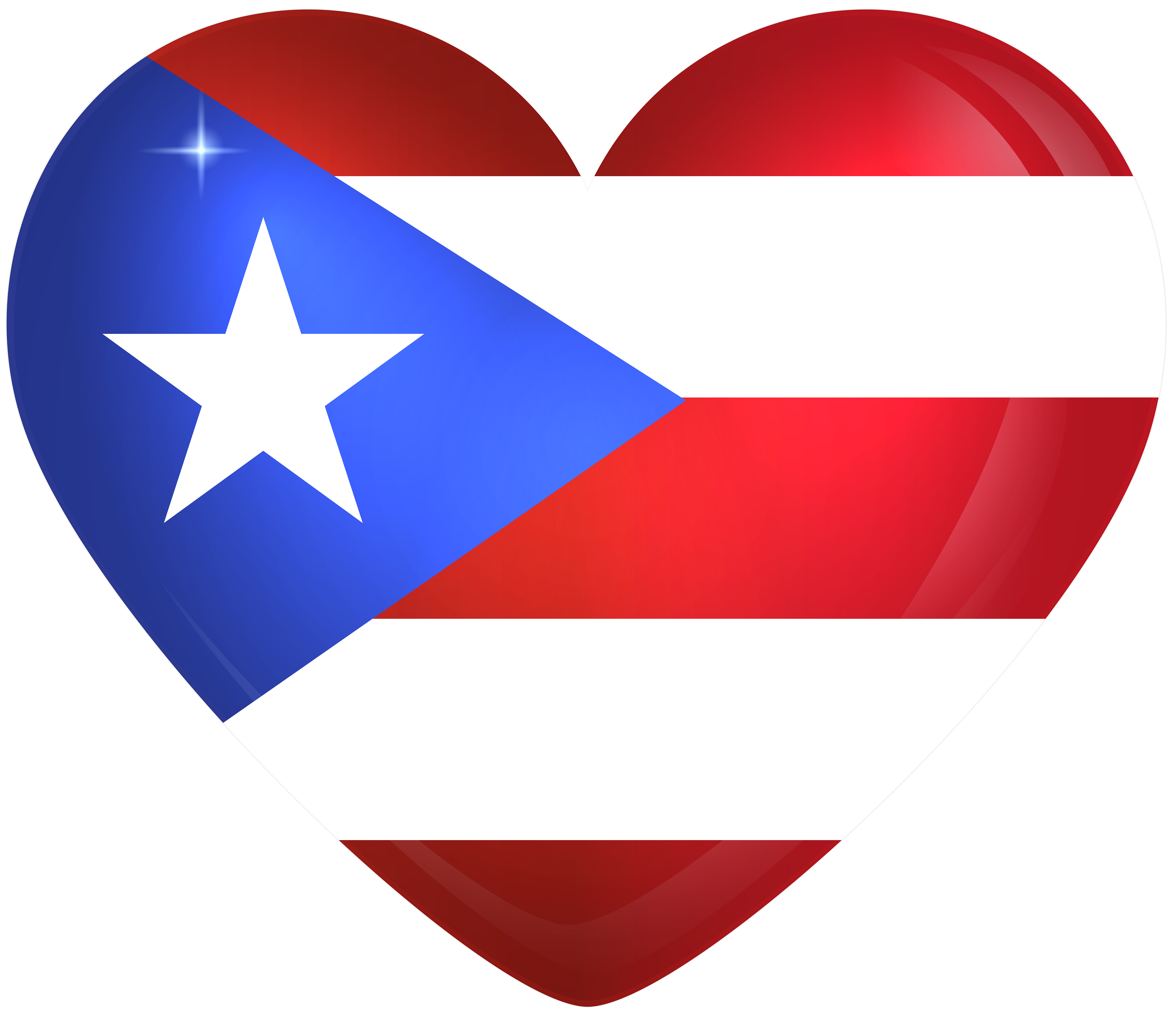 Puerto rico large heart. Hearts clipart butterfly