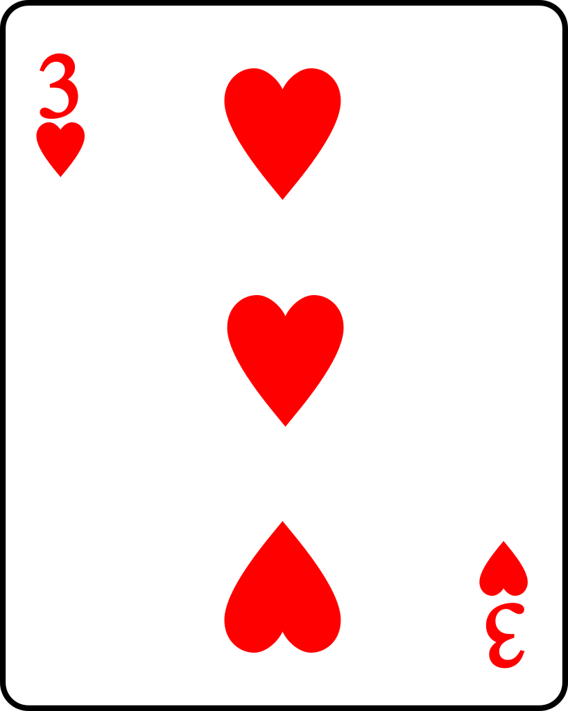 Free heart playing cards. Hearts clipart card