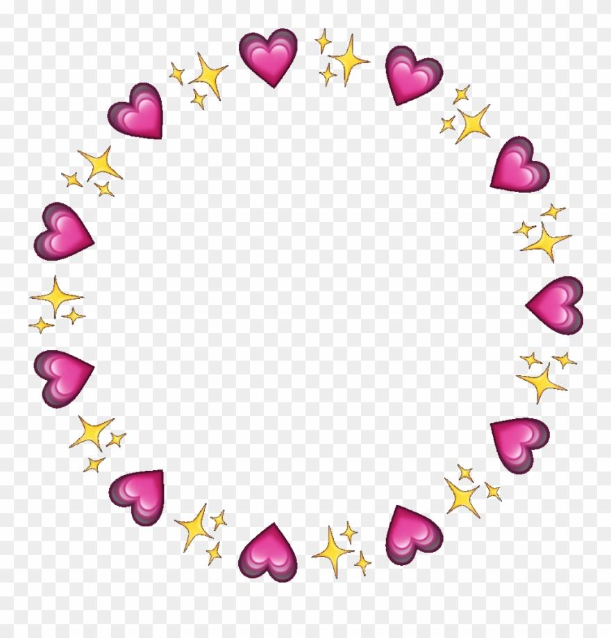 Hearts clipart circle. Frame circleframe sparkles emojis