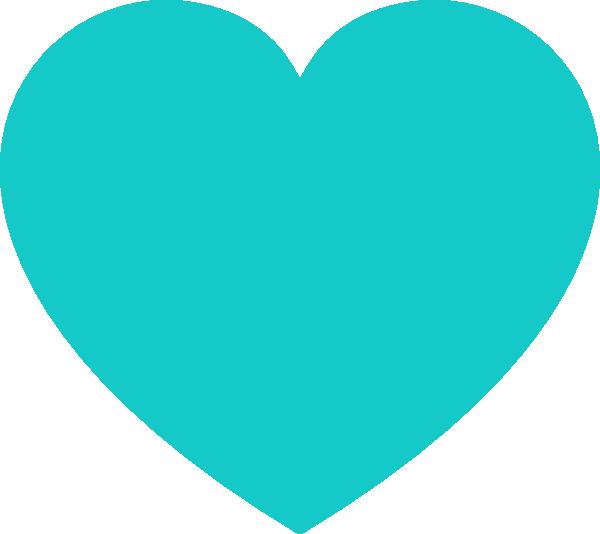Teal heart clip art. Hearts clipart cloud