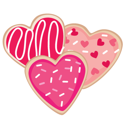Valentine s day cookies. Hearts clipart cookie