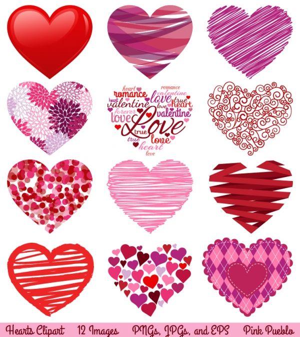 Hearts clipart design. Heart clip art luvly