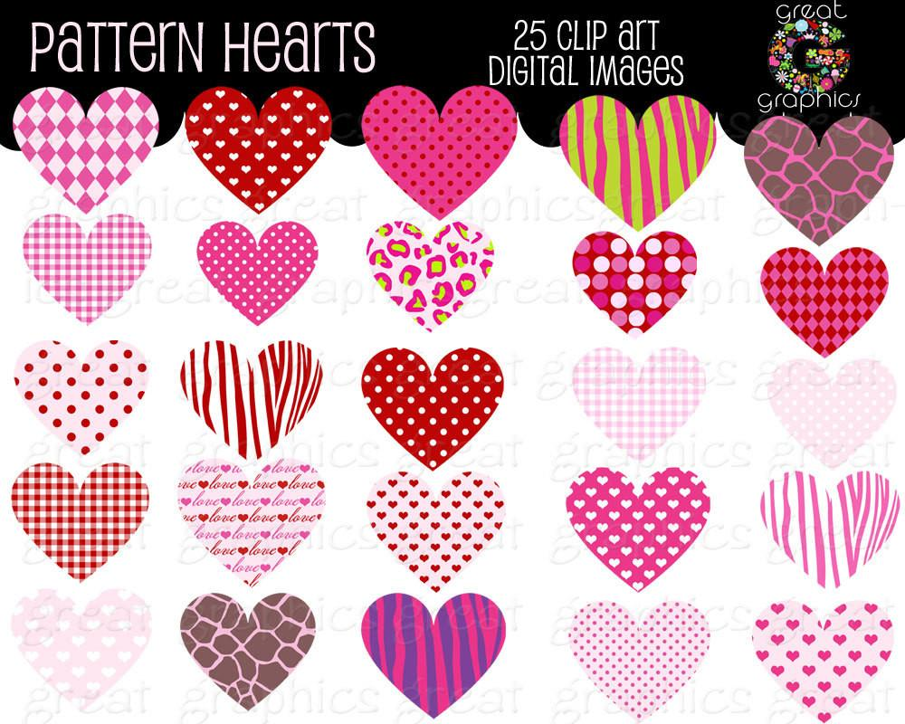 Heart clip art digital. Hearts clipart design