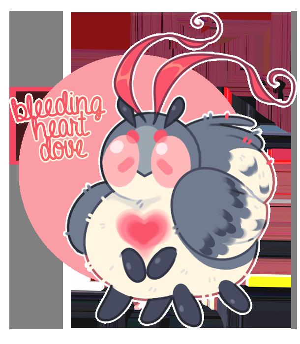 Bumbleborb custom bleeding heart. Hearts clipart dove