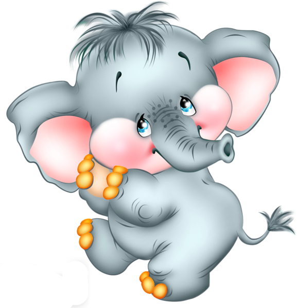 Hearts clipart elephant. Cute cartoon free png