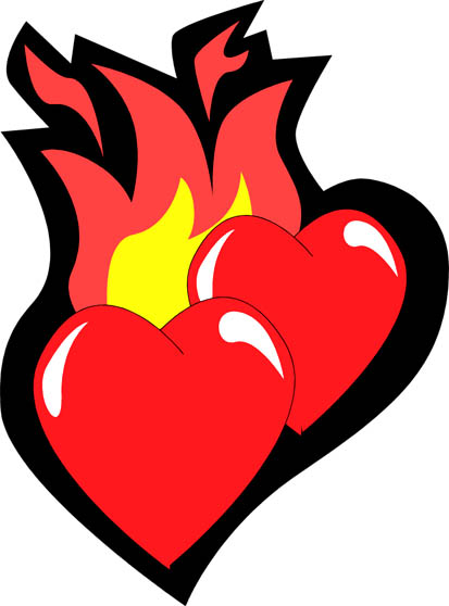 Free cliparts download clip. Hearts clipart fire