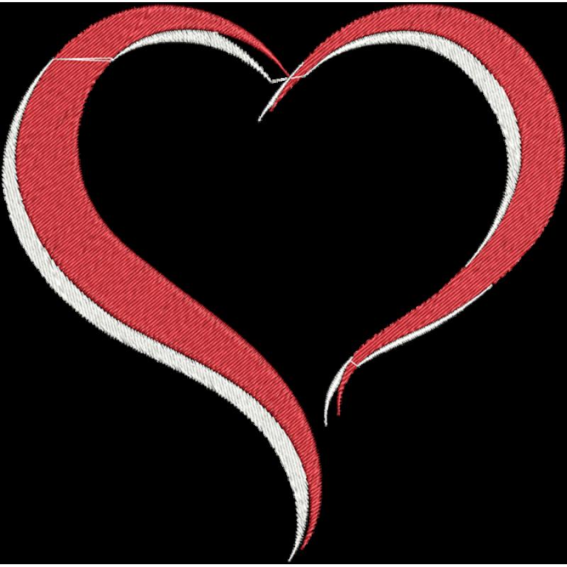 Heat clipart funky heart. Modelo de cora o