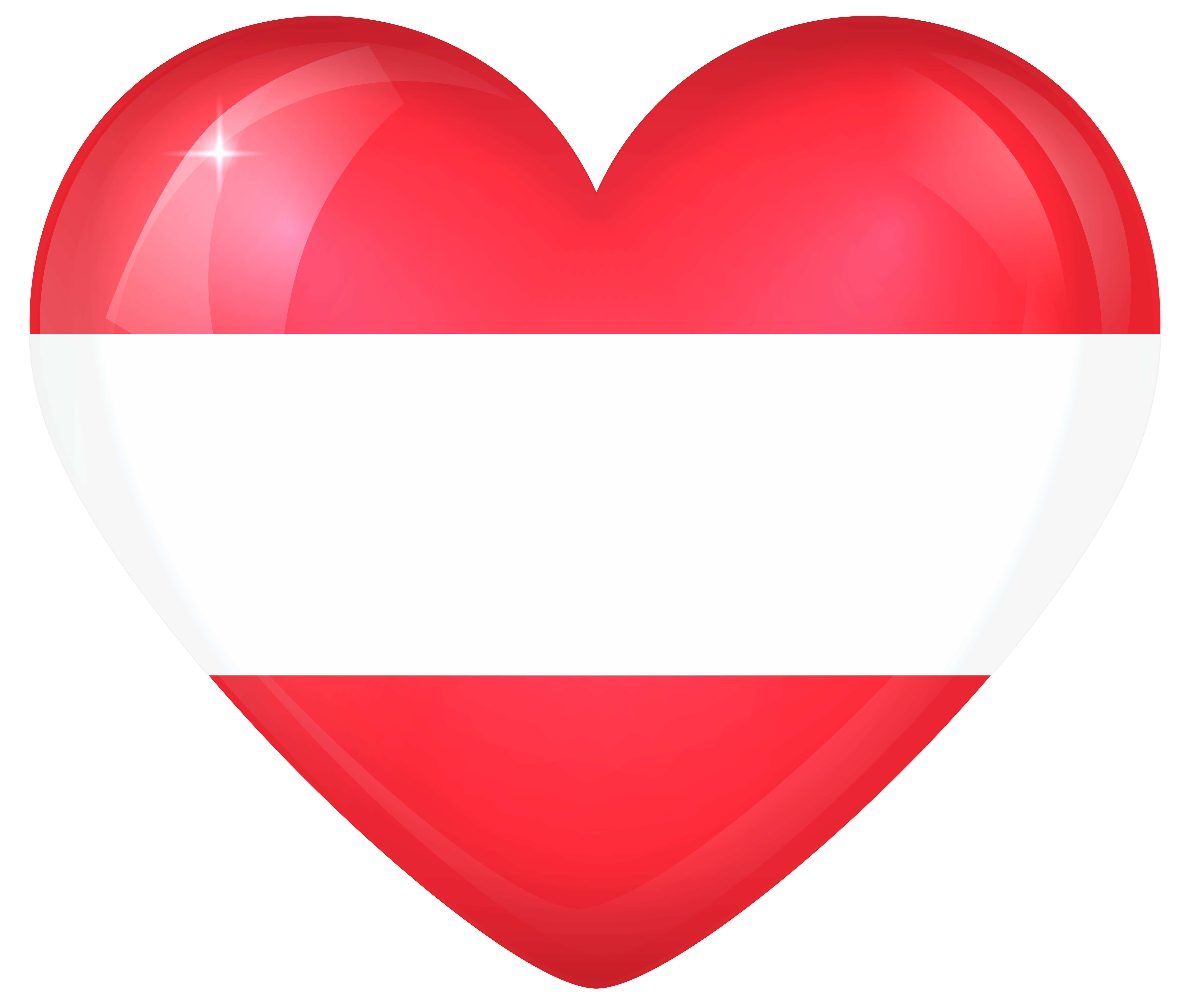Austria large heart gallery. Hearts clipart flag