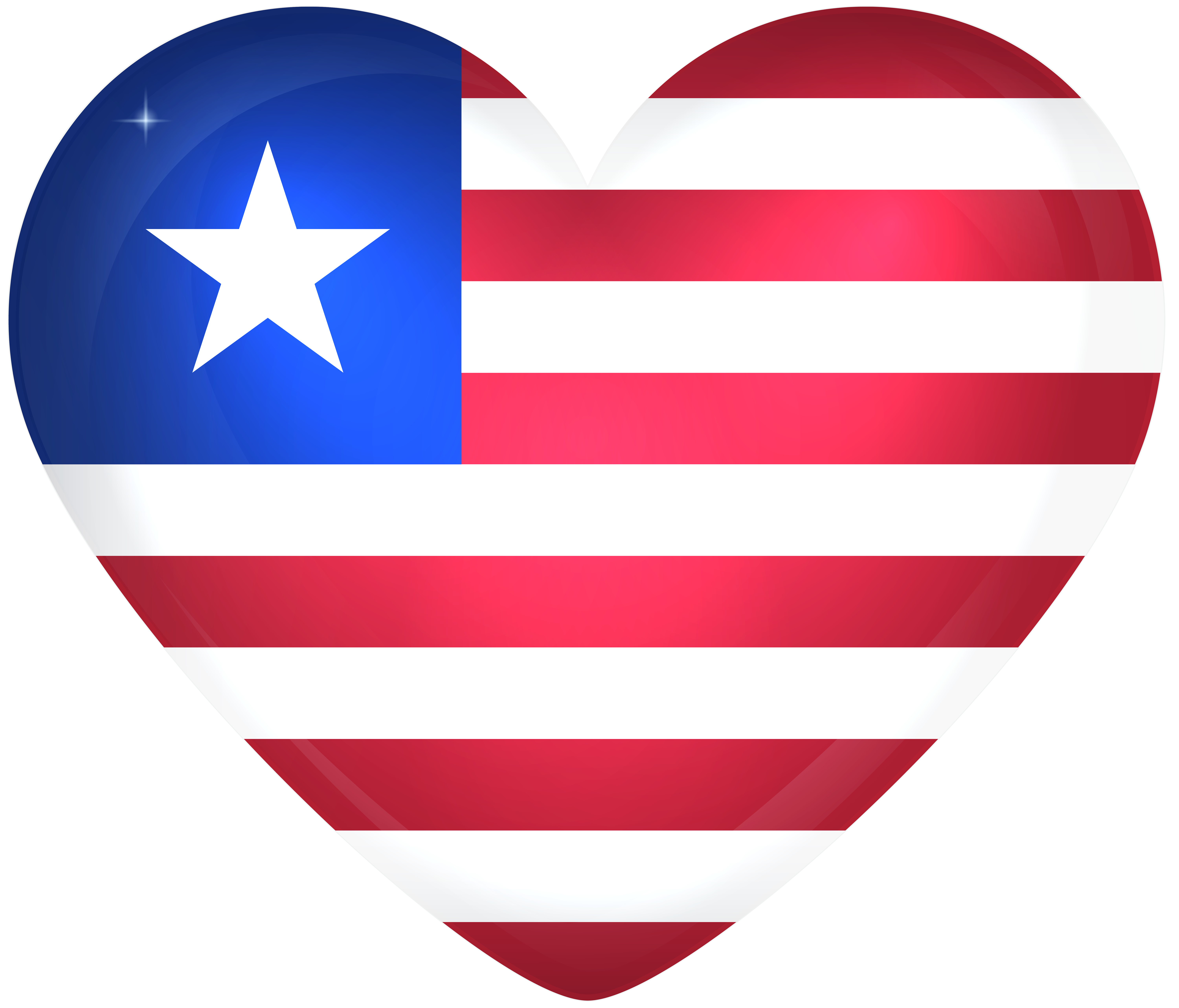 Hearts clipart flag. Liberia large heart gallery