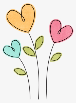 Heart png transparent image. Hearts clipart flower