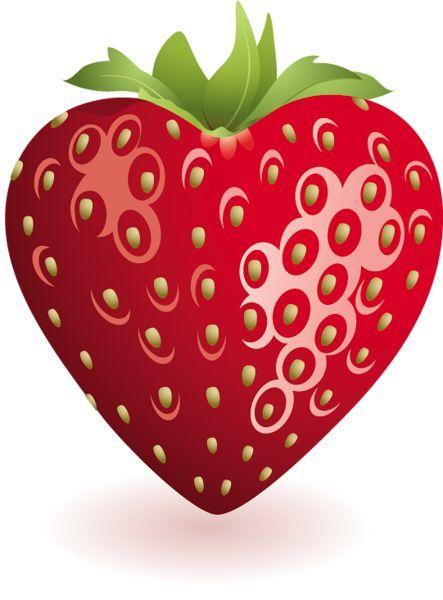Hearts clipart food. Heart strawberry jagoda