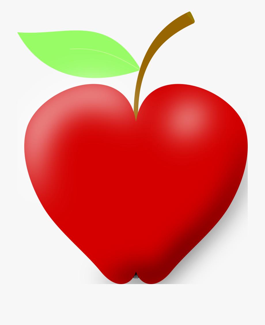 Best hd apple heart. Hearts clipart fruit