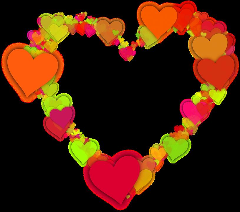 Collection of preschool heart. Hearts clipart garden