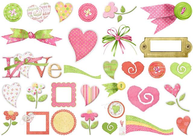 Cute and clip art. Hearts clipart garden