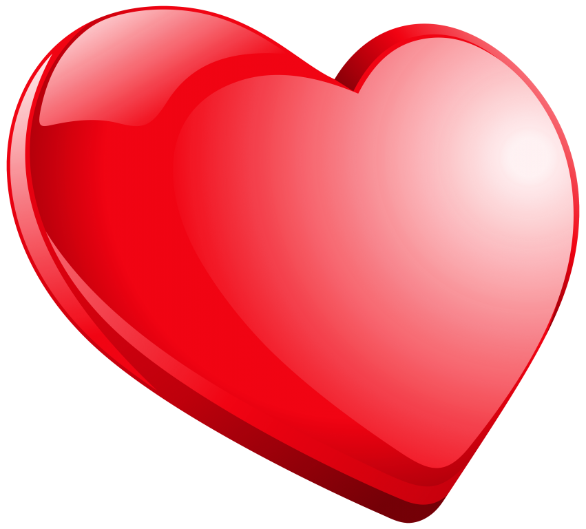 Hearts clipart gem. Heart red png free