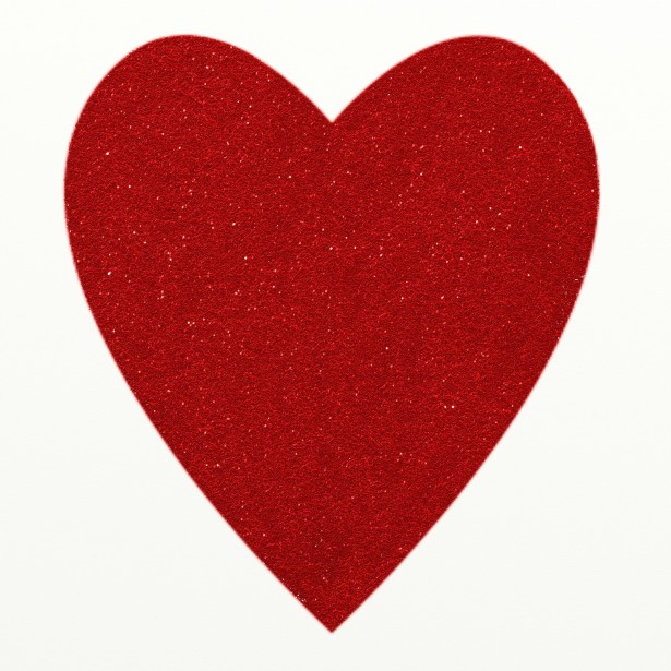 Hearts clipart glitter. Red heart free stock