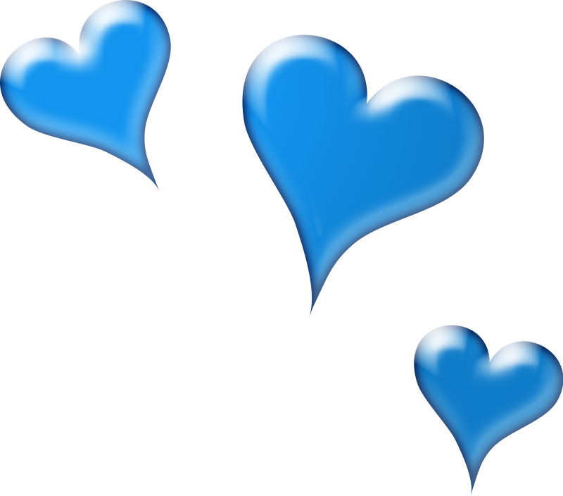 Blue heart free collection. Hearts clipart money