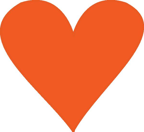 Hearts clipart orange. Heart clip art at