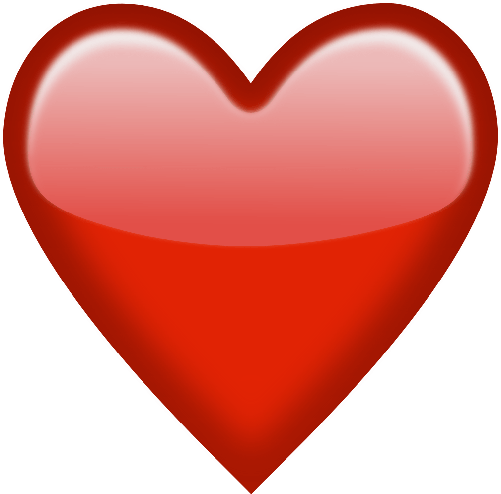 Emoji red heart png. Hearts clipart orange