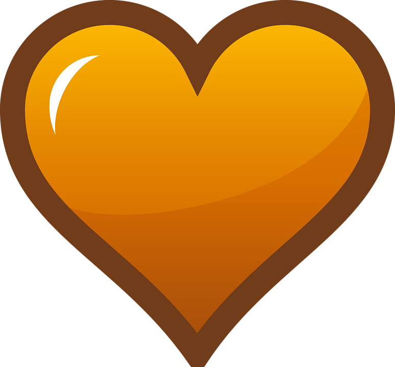 Hearts clipart orange. Collection of big heart