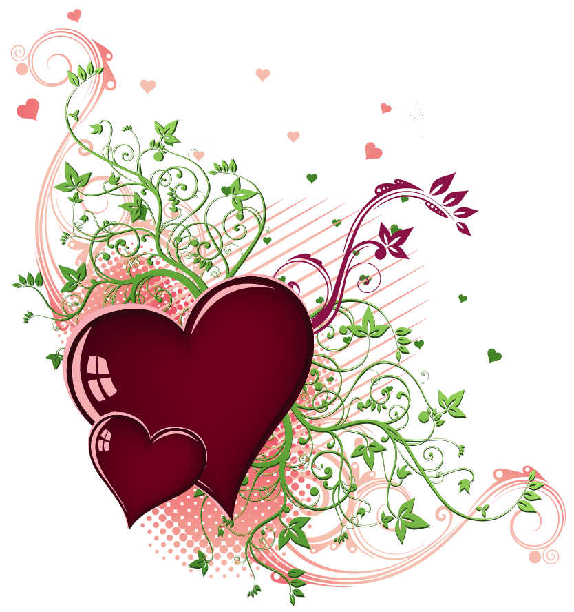 Hearts clipart plant. Transparent deco png gallery
