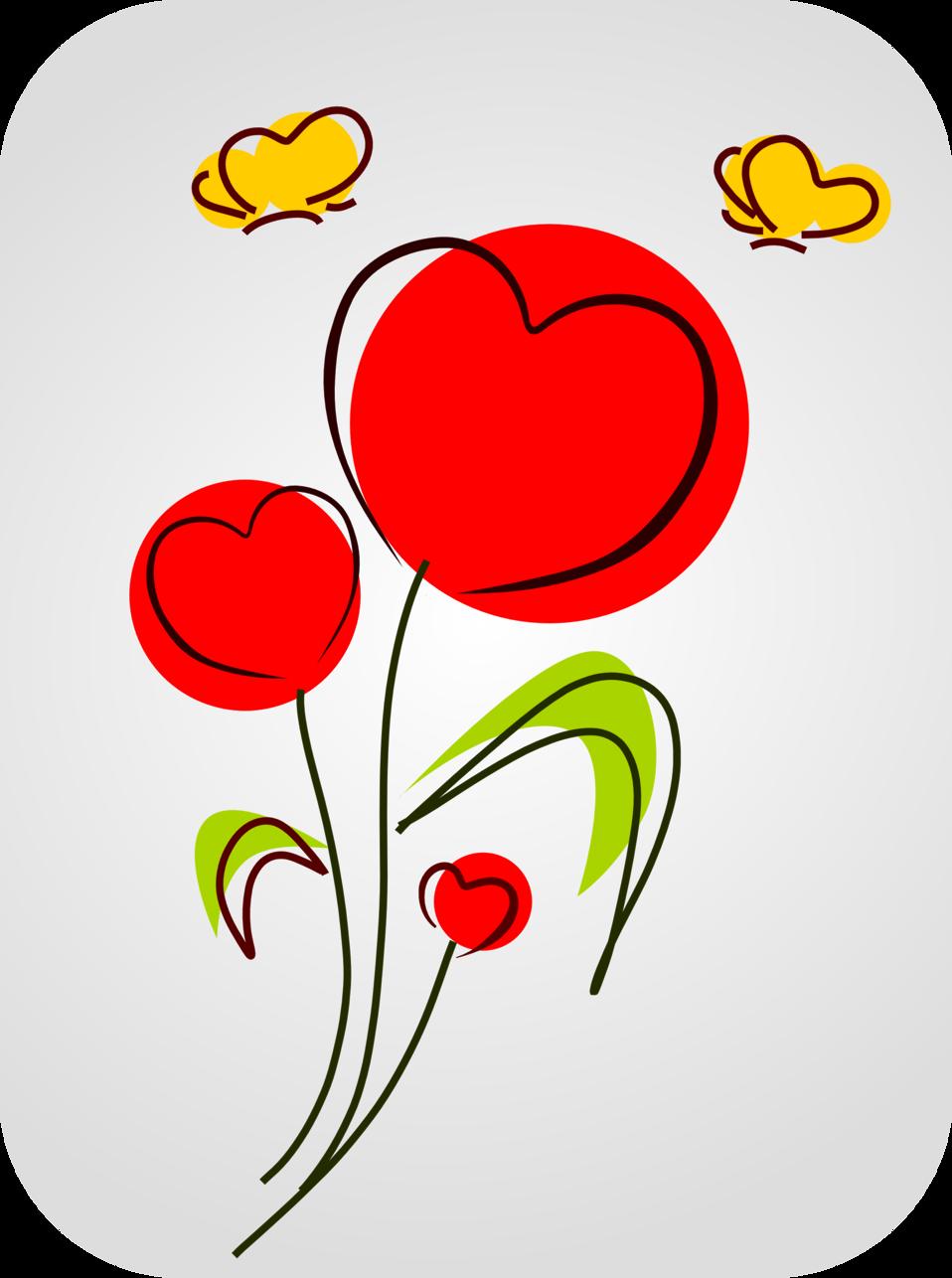 Public domain clip art. Hearts clipart plant
