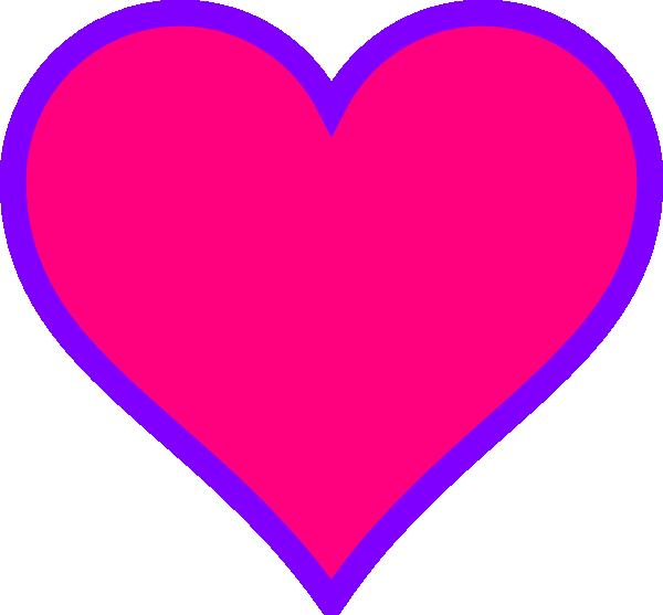 Hearts clipart purple. Magenta heart clip art