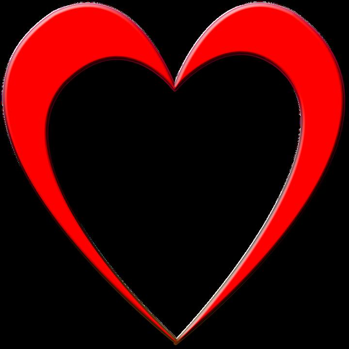 Outline of a heart. Hearts clipart rain